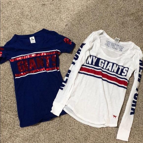 quality design 18d60 c3173 2 for 1 Victoria's Secret NFL NY Giants shirts
